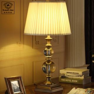 欧式全铜奢华水晶台灯