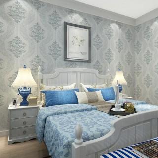 奢华欧式客厅卧室电视背景墙壁布k1012