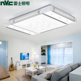 led遥控长方形客厅水晶灯