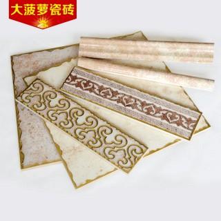 镀金抛晶砖边框花边瓷砖