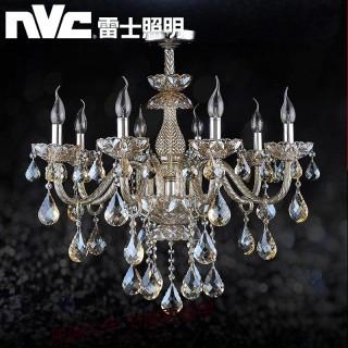9折/【雷士照明】欧式吊灯卧室客厅蜡烛水晶灯