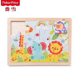 木制动物乐园拼图儿童拼板