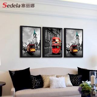 欧式装饰画现代客厅风景挂画