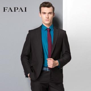 男士黑色商务西装时尚修身