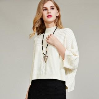 短款羊毛衫时尚宽松版罩衫