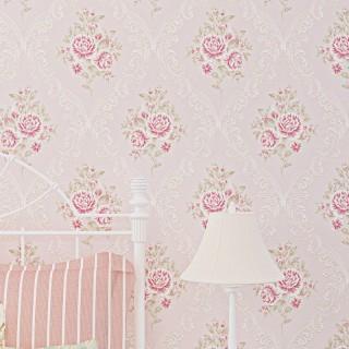 韩式风格清新小花田园墙纸女生公主婚房餐厅卧室壁纸欧式