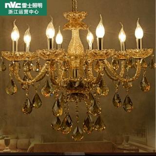 【雷士照明】欧式水晶吊灯简欧灯轻奢大气精装灯饰