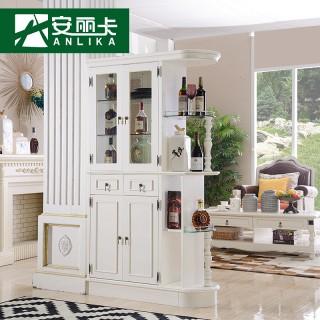 【安丽卡】美式实木玄关柜酒柜隔断柜客厅餐厅门厅柜间厅柜鞋柜欧式图片