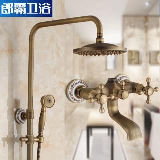 全铜欧式浴室冷热水龙头淋浴器图片
