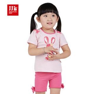 女童套装t恤短裤套装小童夏装空调服外出服