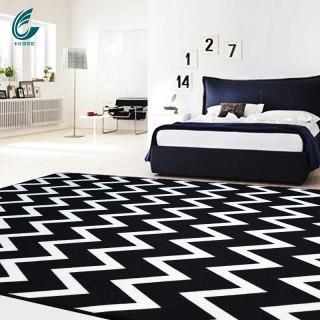 黑白条纹卧室客厅地毯120cm*170cm